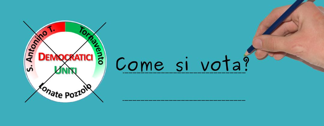 come si vota amministrative 2014